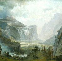 'The Domes of the Yosemite'. Albert Bierstadt, 1867.