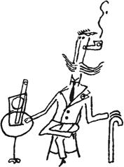 José Bello: dibujo de Putrefacto en una carta a Federico García Lorca, 1926 (Fundación FGL, Madrid)