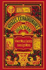Portada de 'Veinte mil leguas de viaje submarino', de Julio Verne, en la colección «Viajes extraordinarios» de la editorial Hetzel. París, 1890